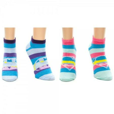 Batman Tights (Supergirl Batman 2 Pair Ankle Sock SET)