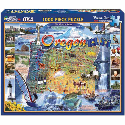 White Mountain Puzzles 1000-Piece Jigsaw Puzzle, Oregon State