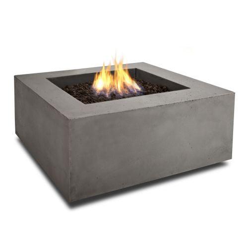 Real Flame Baltic Propane Square Fire Table, Glacier Gray