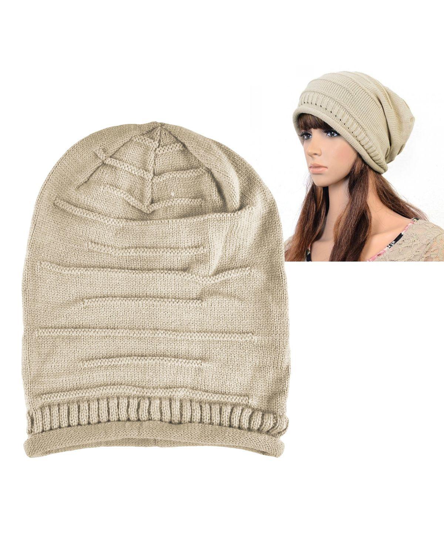 Zodaca Womens Beanie Hat slouchy Beanie Crochet Knit Soft Hat Cap Winter Warm Ladies Girls Mens Unisex Stretch Beanie