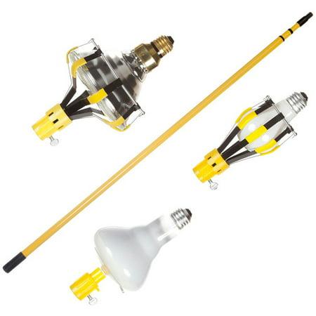 Light Bulb Changer Kit 11 ft Pole with Attachments - Walmart.com