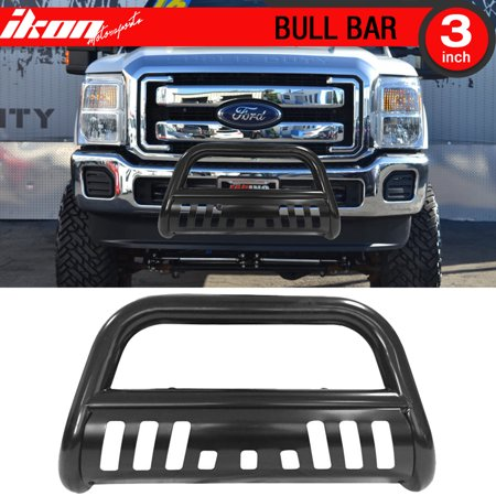Ikon Motorsports Bull Bar Grille Guard - Fits 11-16 F250 F350 F450 Super Duty -