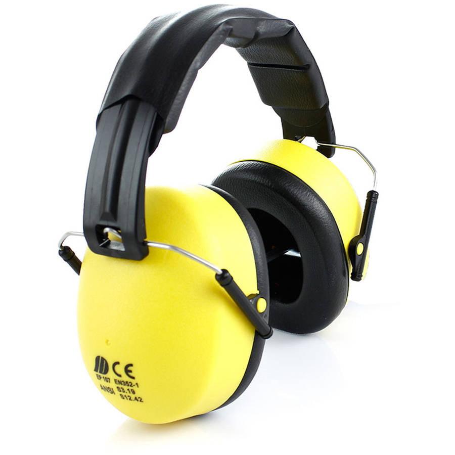 TR Industrial Foldable Ear Muff with Soft Headband, Yellow, Black