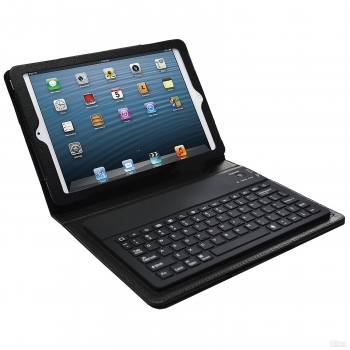 Bluetooth Keyboard Case for iPad Mini- Black