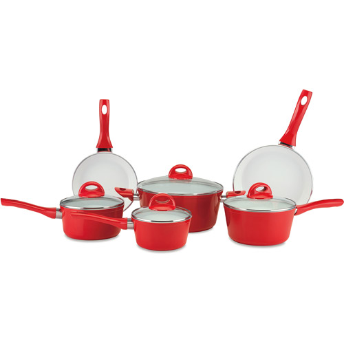 CeraStone Pressure Forged 10-Piece Ceramic Non-Stick Cookware Set