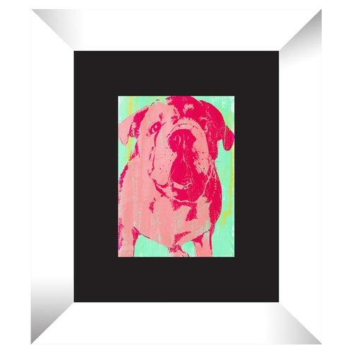 PTM Pop Bulldog Framed Painting Print