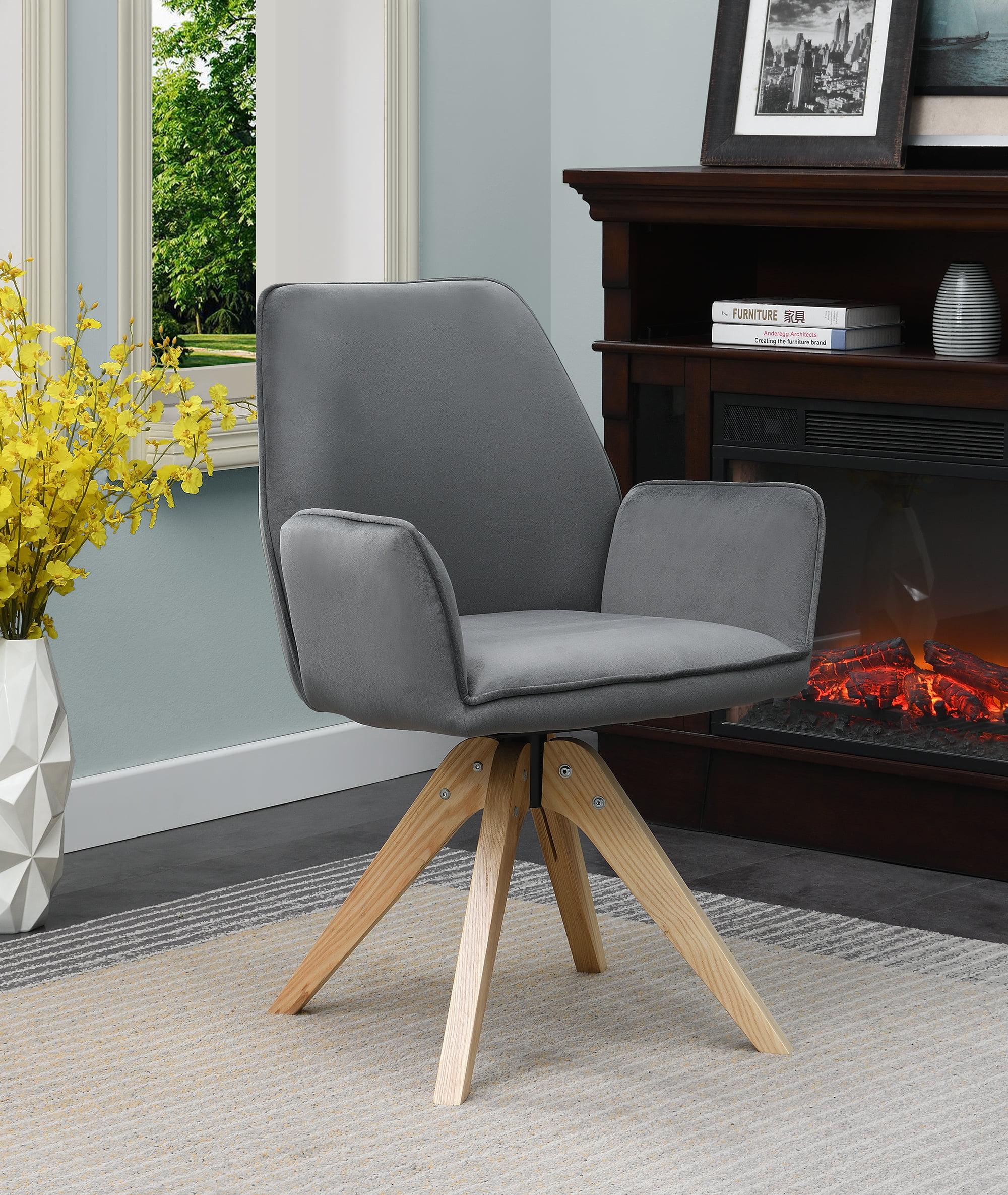 Convenience Concepts Miranda Swivel Chair, Gray   Walmart.com