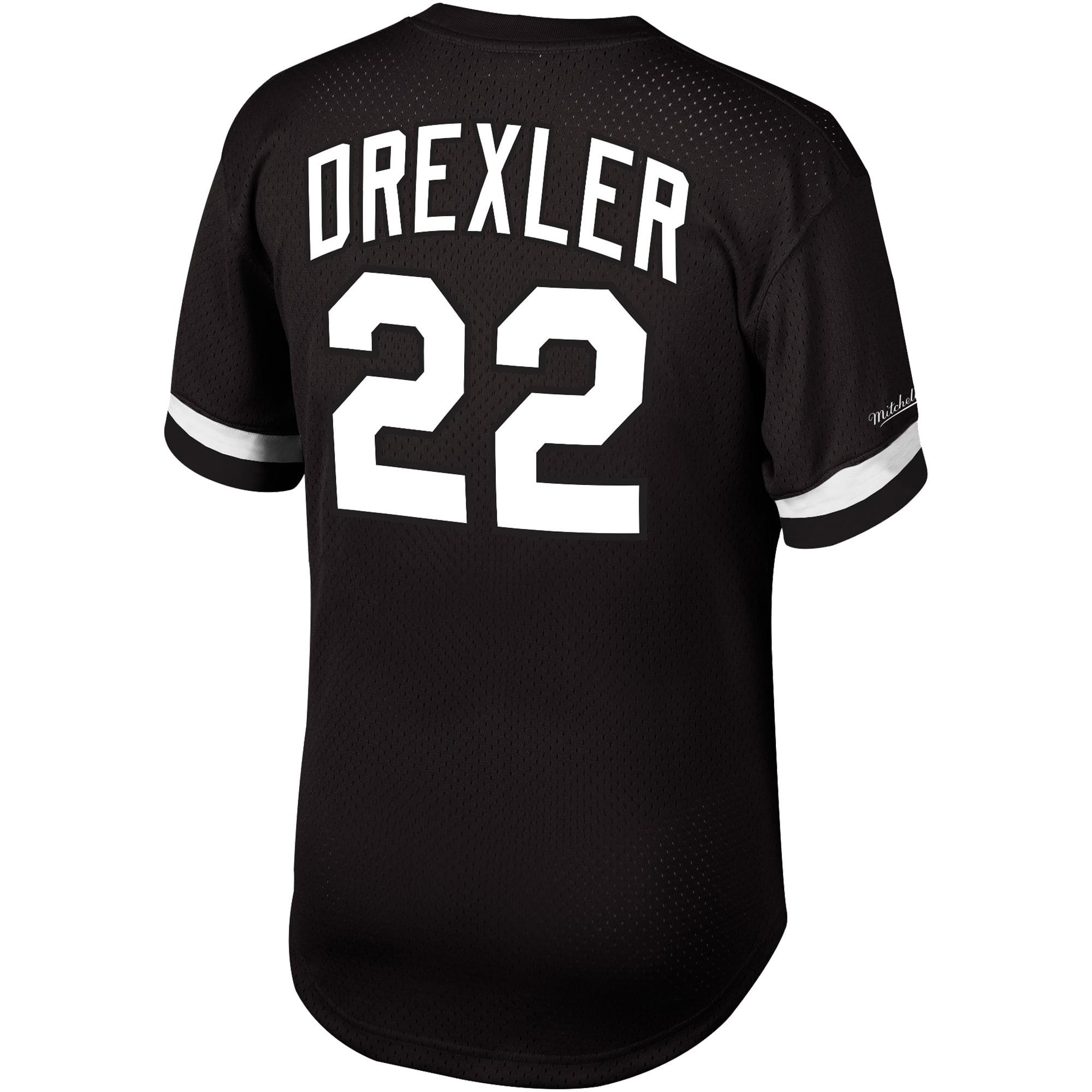 NBA Portland Trail Blazers Clyde Drexler Black /& White Mesh Name Number Crew