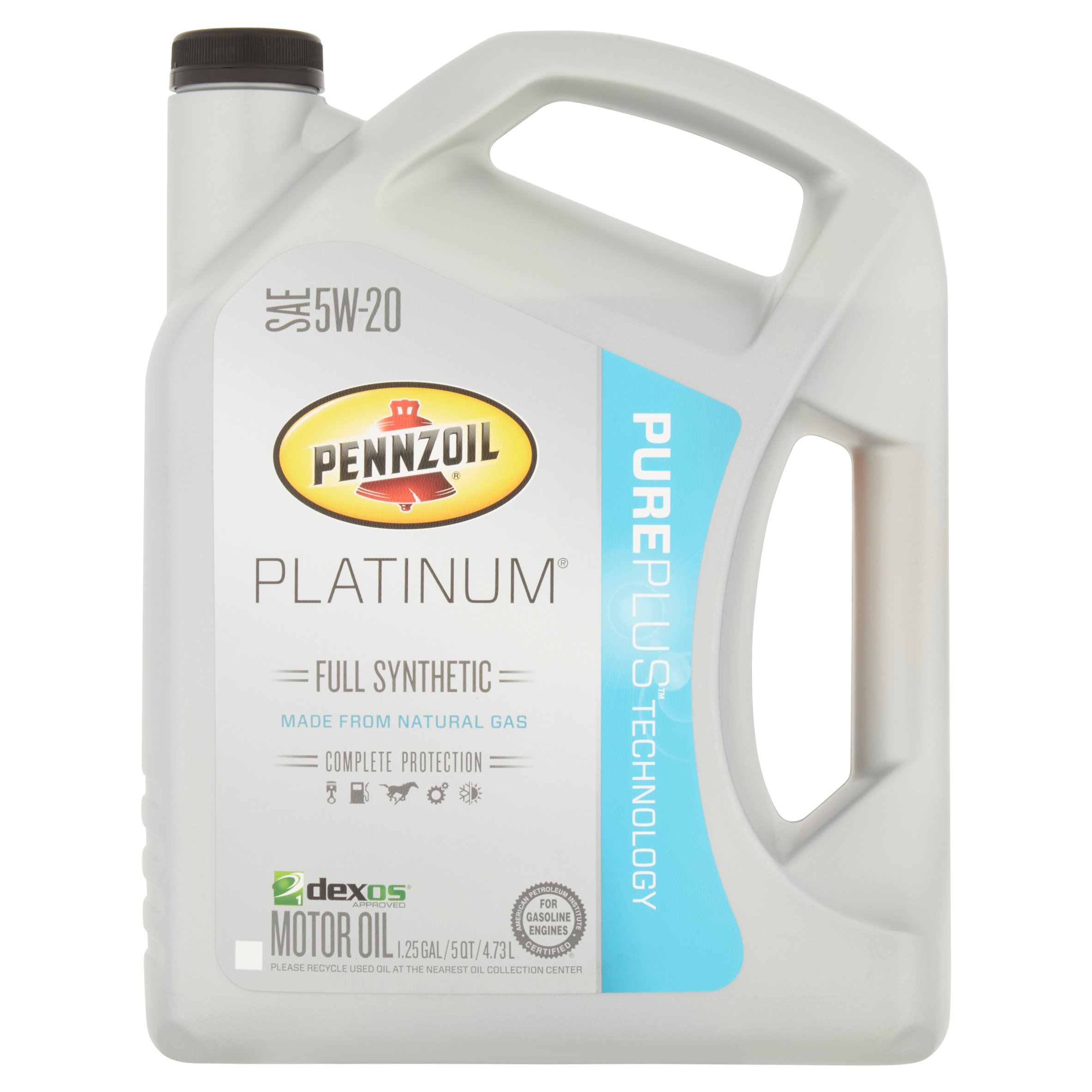 Pennzoil 5W20 Full Synthetic Platinum Motor Oil, 5 qt