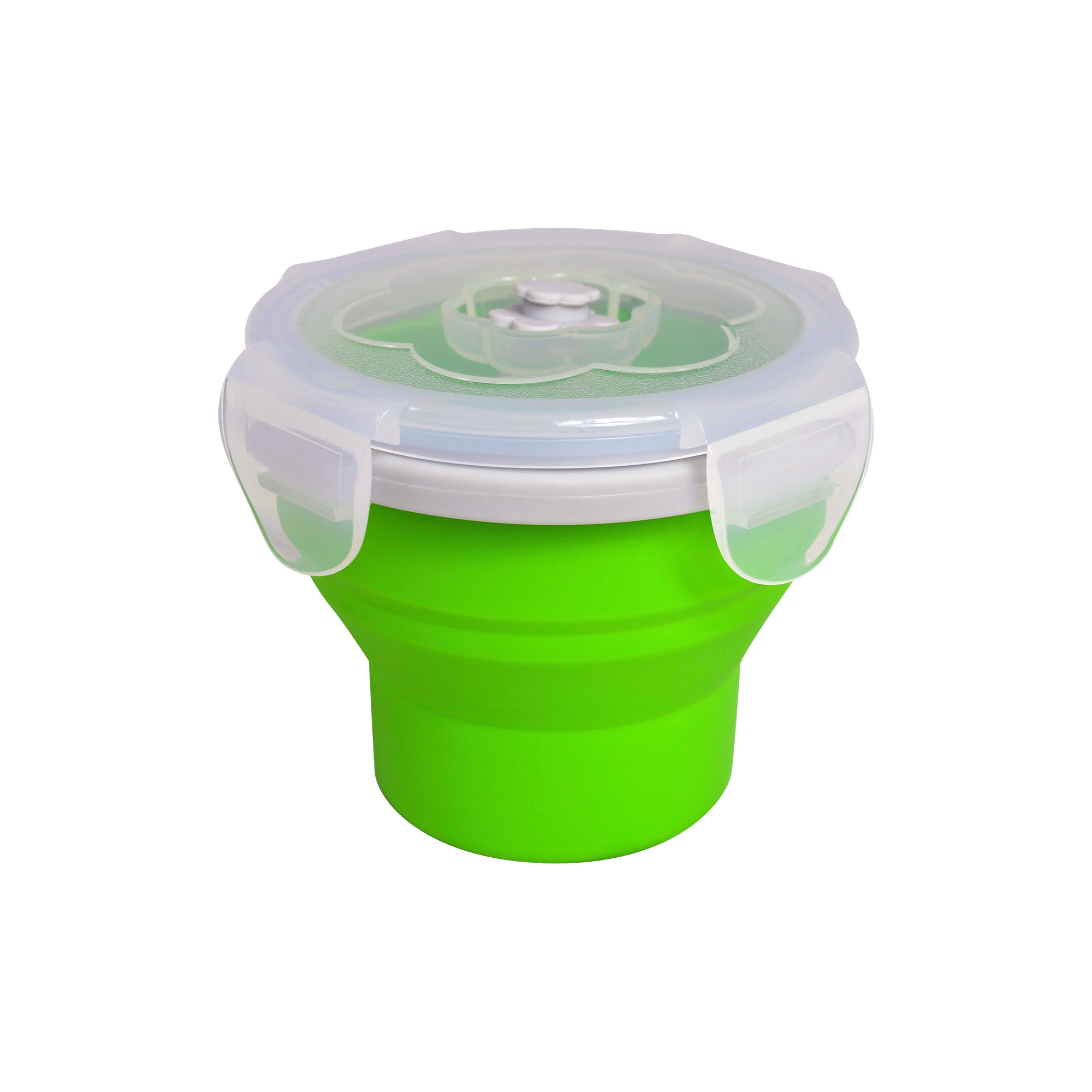 EcoVessel Snacker Collapsible Silicone Snack Cup, Green
