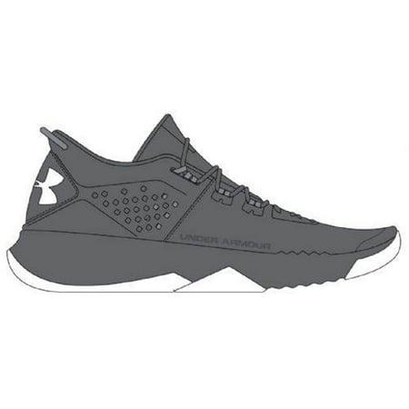 Under Armour Men's UA BAM Trainer Team Shoes (12, Graphite/Steel/White) (Team Handball Shoes)
