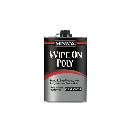Minwax® Wipe-On Poly Clear, Gloss, - Clear Poly Carbon