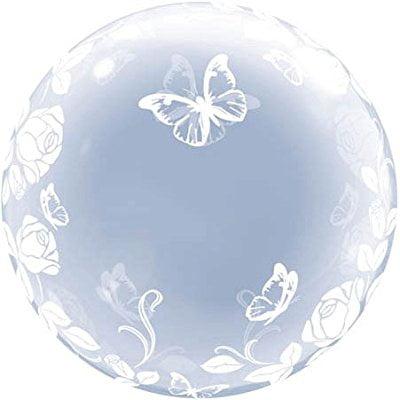 24 elegant roses & butterflies deco bubble (Deco Bubble)