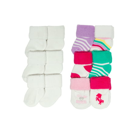 - Magical Unicorn Terry Cuff Sock Set, 12-pack (Newborn Baby Girls)