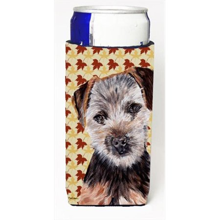 Carolines Treasures SC9687MUK Norfolk Terrier Puppy Fall Leaves Michelob Ultra bottle sleeves Slim Cans  12 Oz. - image 1 of 1