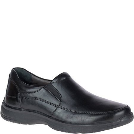 Hush Puppies LORCAN HENSON Mens Black Leather Slip On - Hush Puppies Zappos