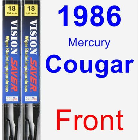 1986 Mercury Cougar Wiper Blade Set/Kit (Front) (2 Blades) - Vision Saver