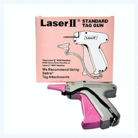 Tagging Gun - LASER II STANDARD TAG GUN, Tagging Gun-Pistol Grip By Brand Laser II Tagging Gun - LASER II STANDARD TAG GUN Tagging Gun-Pistol Grip Dennison Compatible #300 Needles, #700 Heavy Duty Needles or LASER II #841 Needles We Recommend Using Sabre Tags Attachments. Most efficient gun used to attach tags or price tickets to clothes of fashionable items.