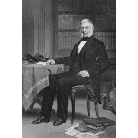 George Bancroft 1800-1891 American Historian Known As The Father Of American History From Painting By Alonzo Chappel Canvas Art - Ken Welsh  Design Pics (12 x