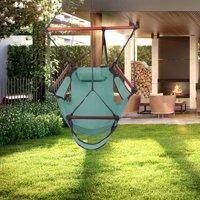 Zimtown Portable Hammock Rope Chair Garden Beach Camping Wood