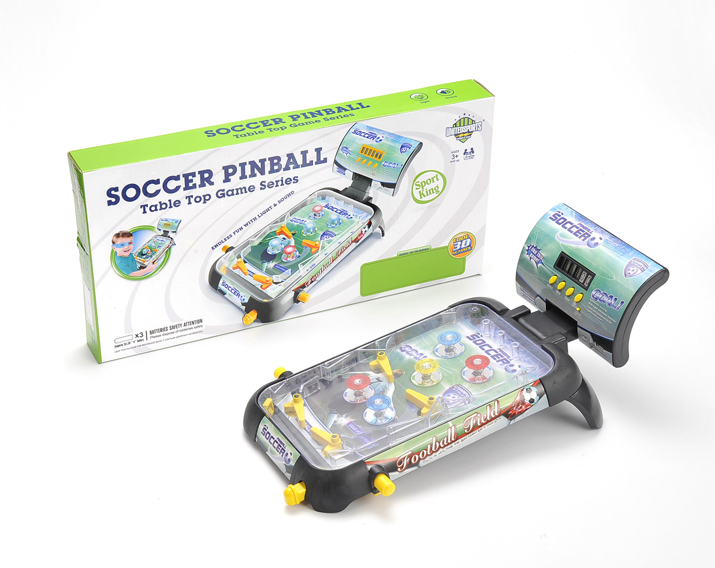 """United Sports 21"""" Soccer Pinball Game with 3D Glass by United Sports"""