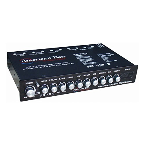 American Bass AB7BV Pre-Amp Equalizer w  Digital Display 7-Band by American Bass