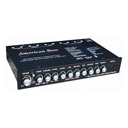 American Bass AB7BV Pre-Amp Equalizer w/ Digital Display 7-Band