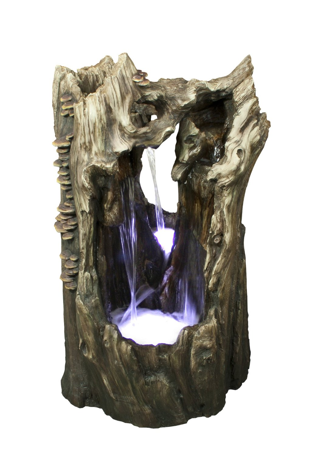 38 Inch Rainforest Waterfall Fountain Led Lights by Benzara