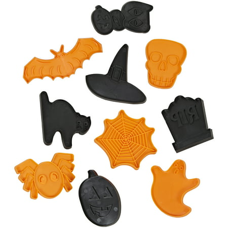 Wilton Halloween Shapes Cookie Cutter Set, 10-Piece](Easy Halloween Cookie Decorating)