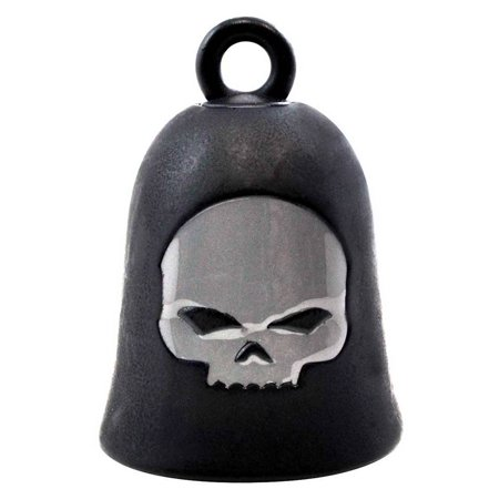 Harley-Davidson Willie G Skull Matte Black Ride Bell, Gray Logo HRB052, Harley Davidson Harley Davidson Skull Accessories