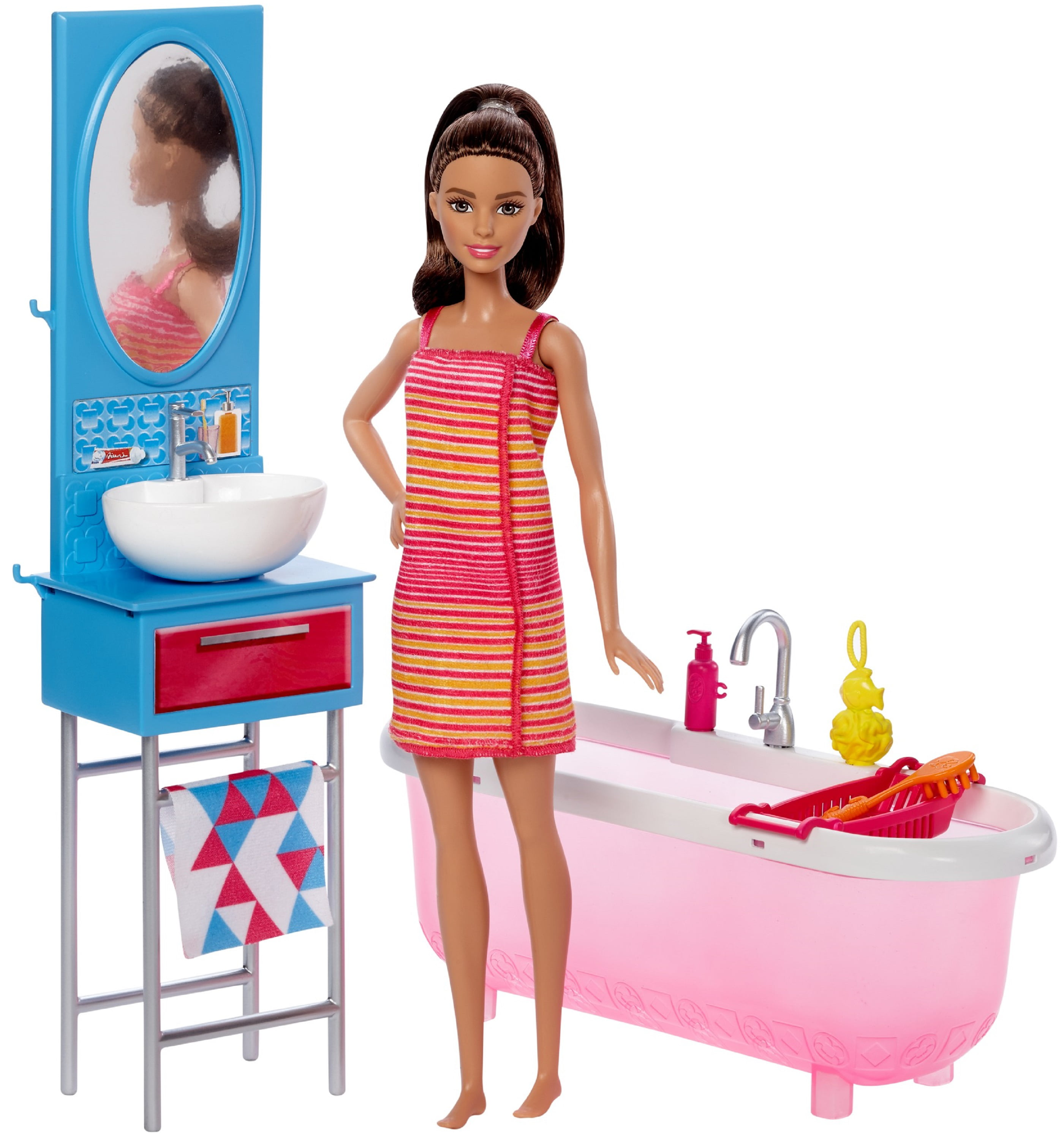 Barbie Doll & Bathroom Furniture by Mattel