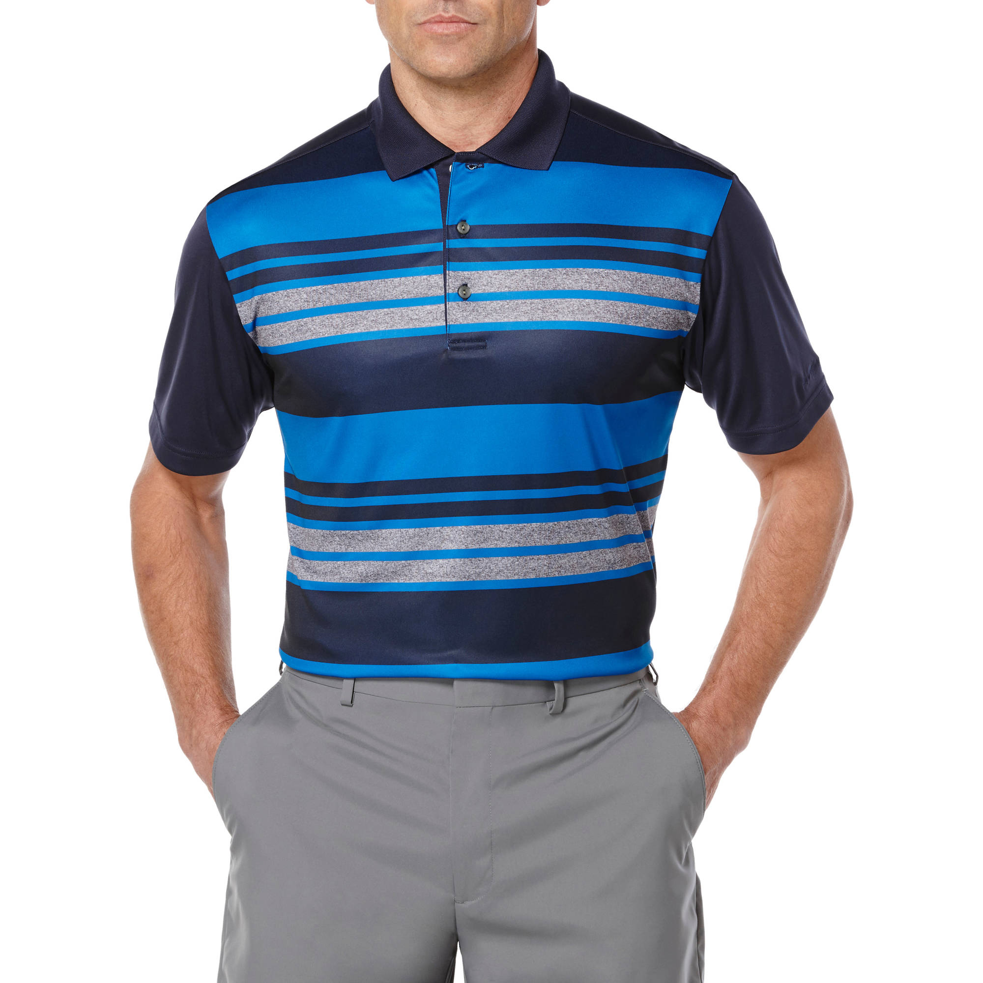Ben Hogan Performance Men's Heather Stripe Polo Shirt
