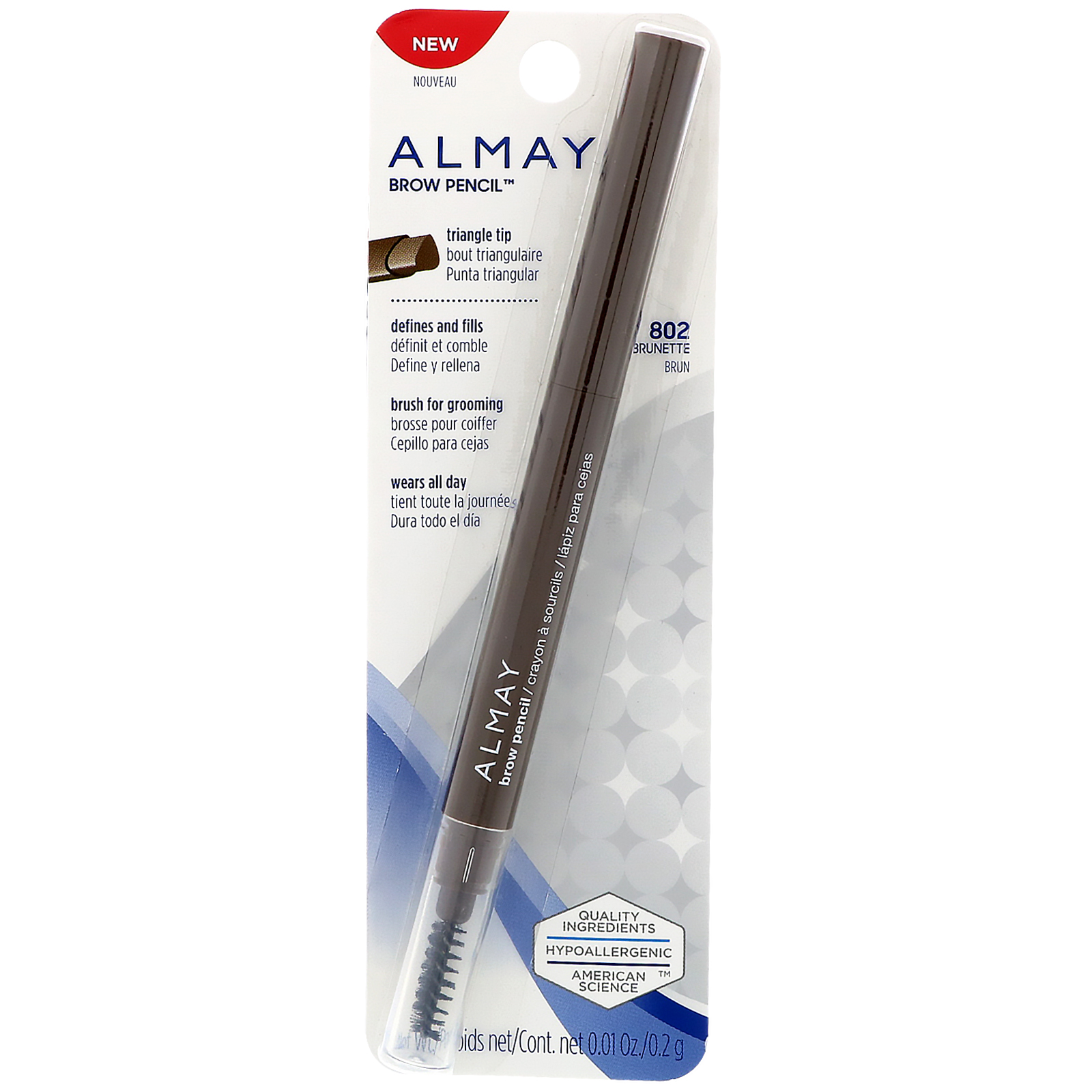 Almay Brow Defining Pencil 802 Brunette (pack of 2)
