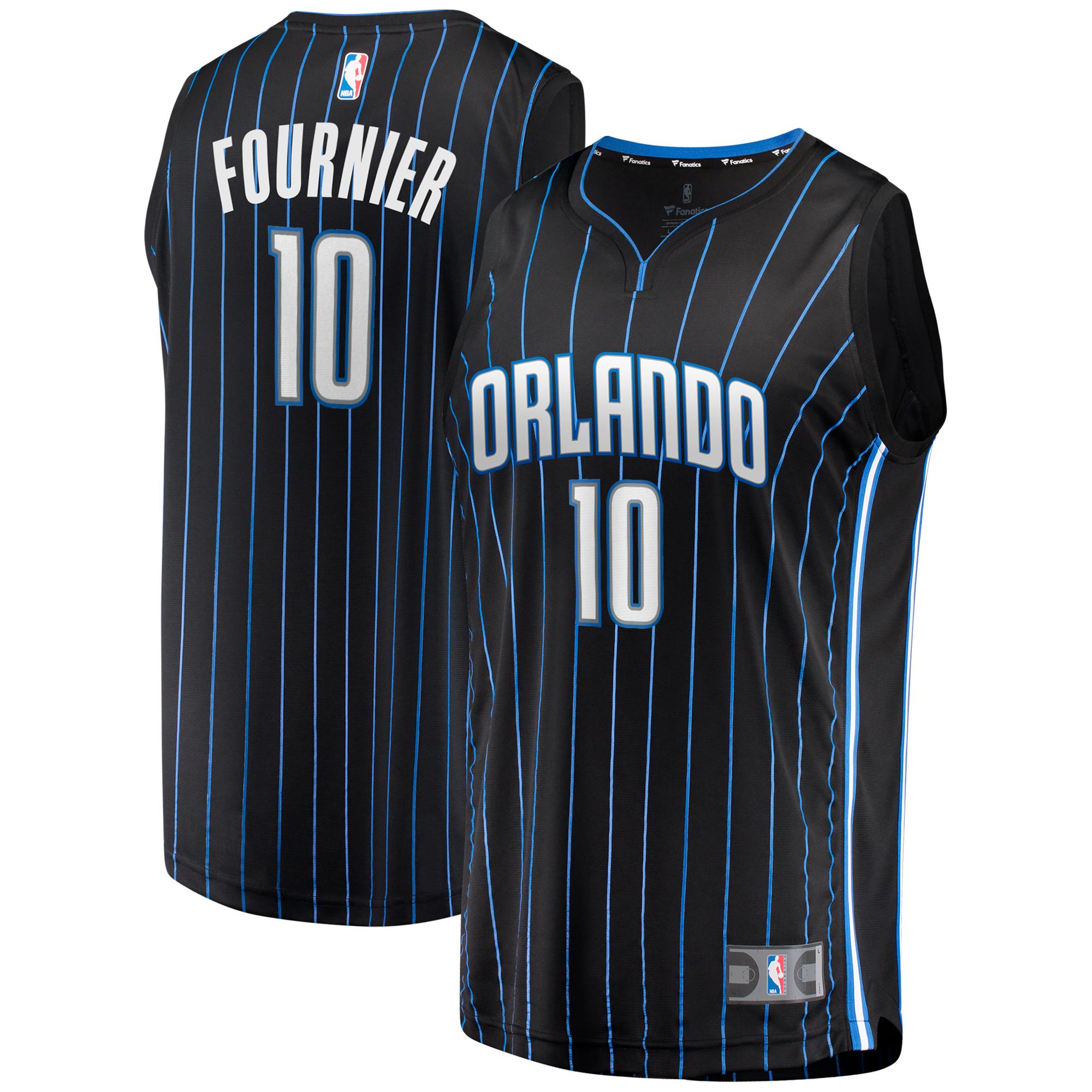 Evan Fournier Orlando Magic Fanatics Branded Youth Fast Break Jersey - Statement Edition - Black