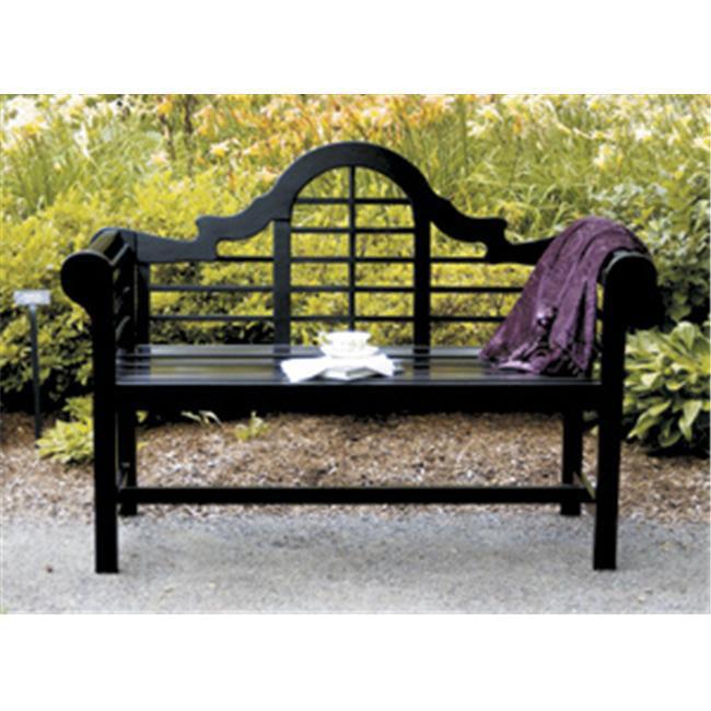 Achla OFB-11 4; Lutyens Wood Bench - Black