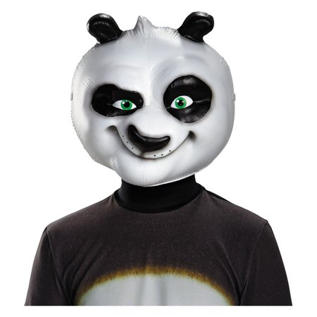 Childs Deluxe Boys Girls Kung Fu Panda Po Ping Mask Costume