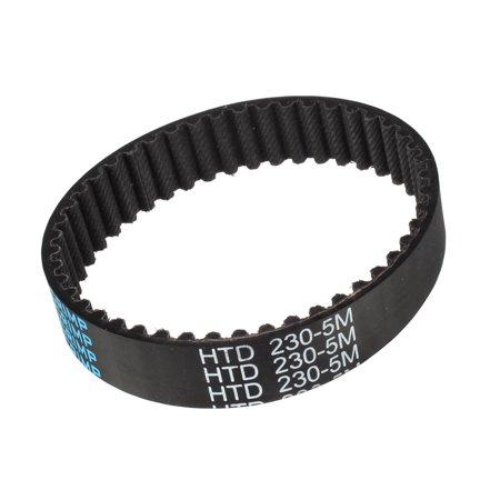 Unique Bargains HTD5M 46 Teeth Stepper Timing Belt Rubber Geared-Belt 230mm Perimeter 15mm Width - image 1 de 1