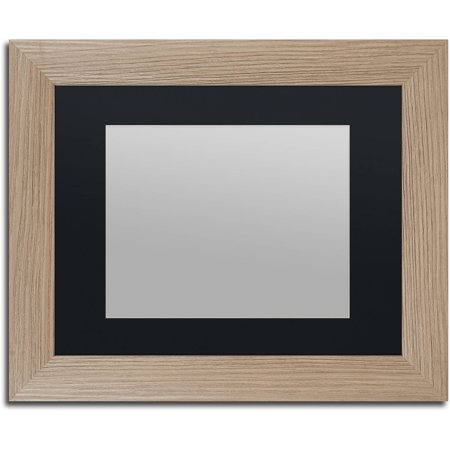 trademark fine art heavy duty 11x14 birch wood picture frame with 8x10 black mat. Black Bedroom Furniture Sets. Home Design Ideas