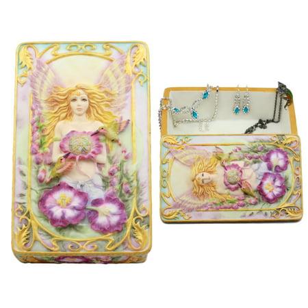 Ebros Gift Jody Bergsma Art Gallery Faith Fairy Jewelry Box Figurine 6.5