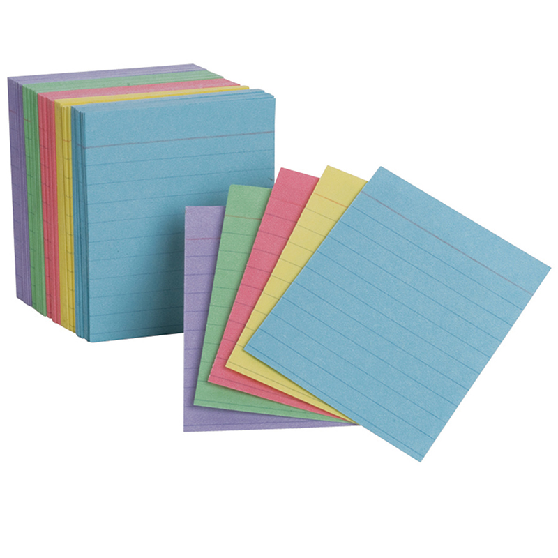 OXFORDS MINI INDEX CARDS ASSORTED RULED
