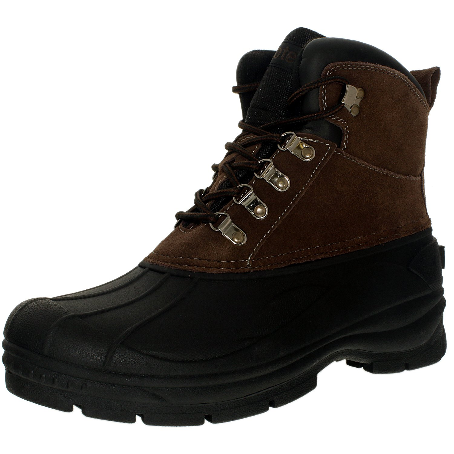 TOTES Men's Glacier-Lace Ankle-High Leather Boot