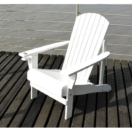 outsunny outdoor patio adirondack lounge chair white. Black Bedroom Furniture Sets. Home Design Ideas