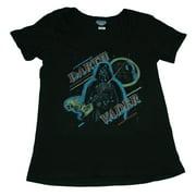 Star Wars Darth Vader Scoop Neck Junk Food Soft Juniors T-Shirt Tee