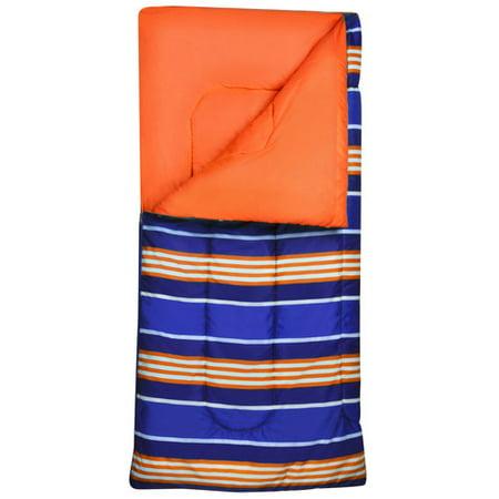 Ozark Trail Kids Orange Strip Sleeping Bag