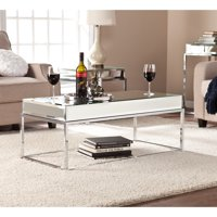 Stassi Coffee Table, Mirrored, Mirrored w/ Chrome by Ember Interiors
