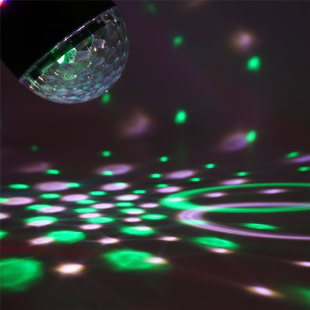 Sound Activated Remote Control 3 RGB 48 LED Lights Crystal Magic Ball Support Music MP3 Player for Stage Lights Party Lights Christmas Halloween Disco DJ Lights - image 10 de 11