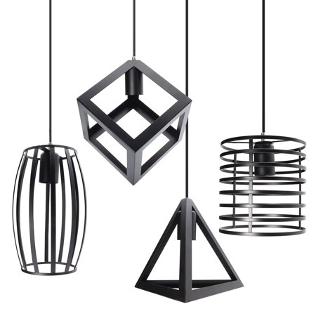E27 Industrial Vintage Chandelier Ceiling Light Pendant Kitchen Bar Fixture Lamp Home Living Room Decor (Ceiling Decor)