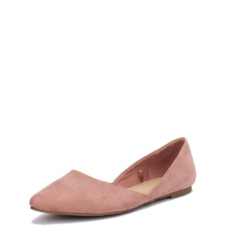 Womens Time And Tru Point Ballet Flats
