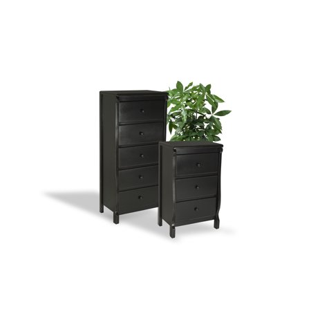 Bedroom Furniture High Quality All Wood FULLY ASSEMBLED READY to USE in  Fashionable Hand Finished Antiqued Black Color – Model S3O2F0I8A 2 pc Group  ...