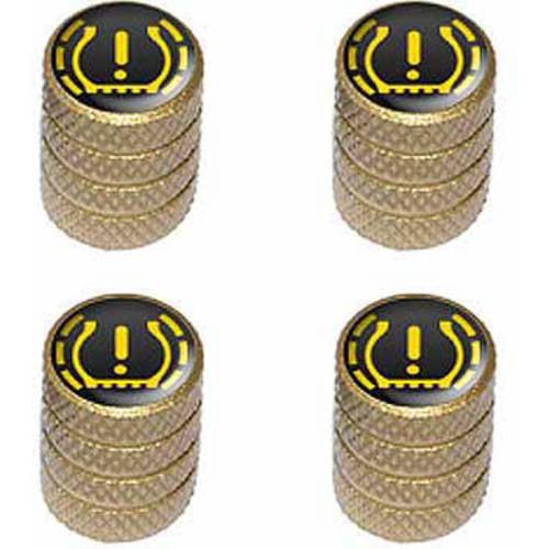 TPMS Tire Pressure Monitoring System Symbol Tire Rim Wheel Aluminum Valve Stem Caps, Multiple Colors